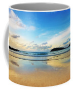 Dramatic Scene Of Sunset On The Beach Coffee Mug by Setsiri Silapasuwanchai