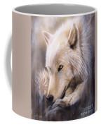 Dreamscape - Wolf Coffee Mug by Sandi Baker