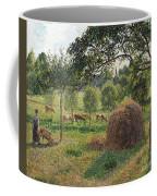 Dusk At Eragny Coffee Mug by Camille Pissarro