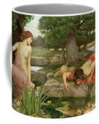 Echo And Narcissus Coffee Mug by John William Waterhouse