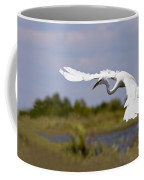 Egret Ballet Coffee Mug by Mike  Dawson