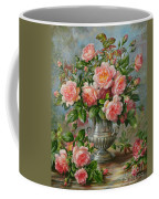 English Elegance Roses In A Silver Vase Coffee Mug by Albert Williams