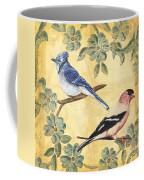 Exotic Bird Floral And Vine 1 Coffee Mug by Debbie DeWitt