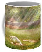 Farm - Geese -  Birds Of A Feather - Panorama Coffee Mug by Mike Savad