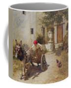 Farm Yard Scene Coffee Mug by Henry Herbert La Thangue
