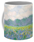Field Of Yellow Irises At Giverny Coffee Mug by Claude Monet