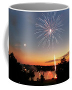 Fireworks And Sunset Coffee Mug by Amber Flowers