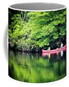 Fishing On Shady Coffee Mug by Lana Trussell