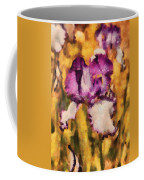 Flower - Iris - Diafragma Violeta Coffee Mug by Mike Savad
