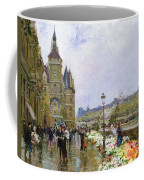Flower Sellers By The Seine Coffee Mug by Georges Stein