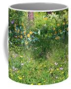Forest Flowers Landscape Coffee Mug by Carol Groenen