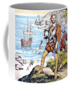 Francis Drake And The Golden Hind Coffee Mug by Ron Embleton