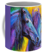 Friesian Horses Painting Coffee Mug by Svetlana Novikova