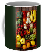 Fruits And Vegetables In Compartments Coffee Mug by Garry Gay