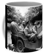 General Eisenhower In A Jeep Coffee Mug by War Is Hell Store