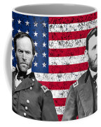 Generals Sherman And Grant  Coffee Mug by War Is Hell Store