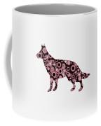German Shepherd - Animal Art Coffee Mug by Anastasiya Malakhova
