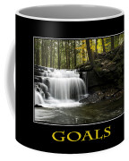 Goals Inspirational Motivational Poster Art Coffee Mug by Christina Rollo
