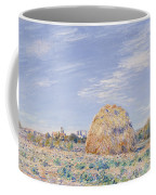 Haystack On The Banks Of The Loing Coffee Mug by Alfred Sisley