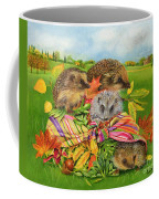 Hedgehogs Inside Scarf Coffee Mug by EB Watts