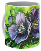 Helleborous Blue Lady Coffee Mug by Karin  Dawn Kelshall- Best
