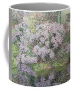 Hydrangeas On The Banks Of The River Lys Coffee Mug by Emile Claus