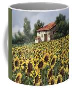 I Girasoli Nel Campo Coffee Mug by Guido Borelli