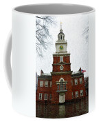 Independence Hall In Philadelphia Coffee Mug by Bill Cannon