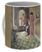 Interior Coffee Mug by Felix Edouard Vallotton