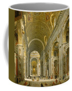 Interior Of St. Peter's - Rome Coffee Mug by Giovanni Paolo Panini