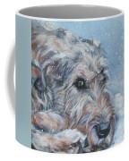 Irish Wolfhound Resting Coffee Mug by Lee Ann Shepard
