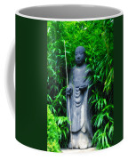 Japanese House Monk Statue Coffee Mug by Bill Cannon