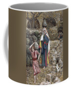 Jesus And His Mother At The Fountain Coffee Mug by Tissot