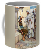 Jesus And The Blind Man Coffee Mug by Arthur A Dixon