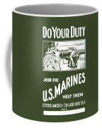 Join The Us Marines Coffee Mug by War Is Hell Store