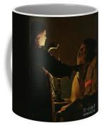 Jospeh And The Angel Coffee Mug by Georges de la Tour