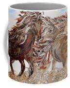 Kicking Up Dust Coffee Mug by Eloise Schneider
