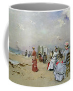 La Plage De Trouville Coffee Mug by Paul Rossert