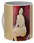 Large Seated Nude Coffee Mug by Amedeo Modigliani