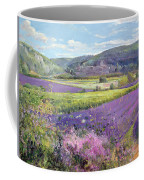 Lavender Fields In Old Provence Coffee Mug by Timothy Easton