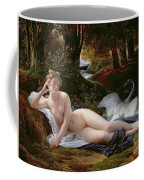 Leda And The Swan Coffee Mug by Francois Edouard Picot