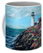 Lighthouse At Flower Point Coffee Mug by Jack Skinner