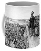 Lincoln Delivering The Gettysburg Address Coffee Mug by War Is Hell Store