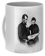 Lincoln Reading To His Son Coffee Mug by Photo Researchers