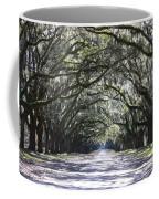 Live Oak Lane In Savannah Coffee Mug by Carol Groenen