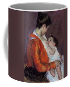 Louise Nursing Her Child Coffee Mug by Marry Cassatt