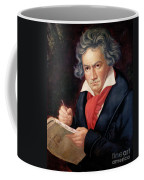 Ludwig Van Beethoven Composing His Missa Solemnis Coffee Mug by Joseph Carl Stieler