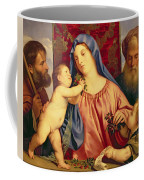 Madonna Of The Cherries With Joseph Coffee Mug by Titian