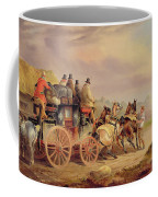 Mail Coaches On The Road - The 'quicksilver'  Coffee Mug by Charles Cooper Henderson