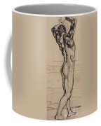 Male Act   Study For The Truth Coffee Mug by Ferdninand Hodler